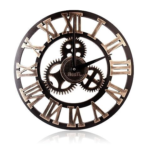 HooYL Pendule Murale Romaine Nombre Decoration Industrielle Design Geante  (40 cm de diamètre) Horloge Murale Couleur Cuivre  Amazon.fr  Cuisine    Maison 5eb934232cae