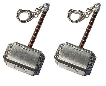 Outletdelocio. Pack 2 Llaveros Martillo de Thor. Fabricado ...