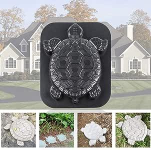 knowledgi Molde de Piedra de estribación con Forma de Tortuga Piedra Decorativa para jardín o jardín: Amazon.es: Hogar