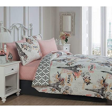 Amazon.com: 6Pc Novelty French Country Shabby Chic Bedding ...