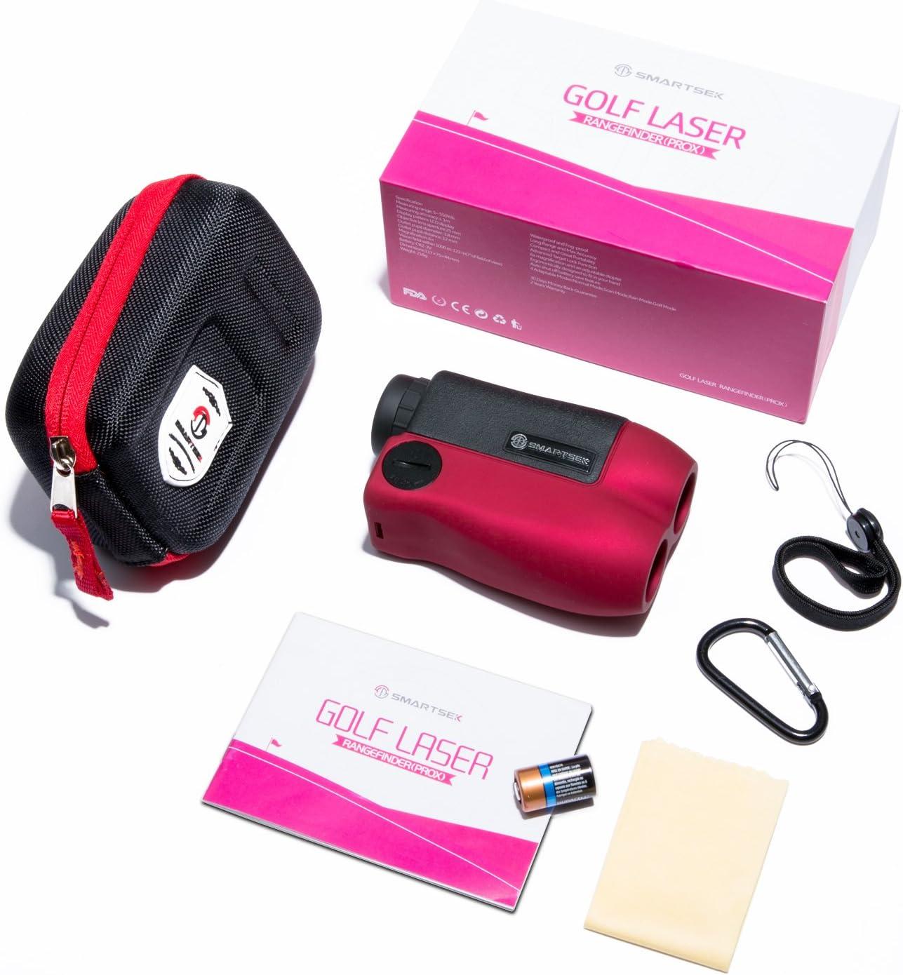 SMARTSEK Golf Rangefinder Laser Distance Finder for Hunting Golf Waterproof Portable Range Finder Battery Included