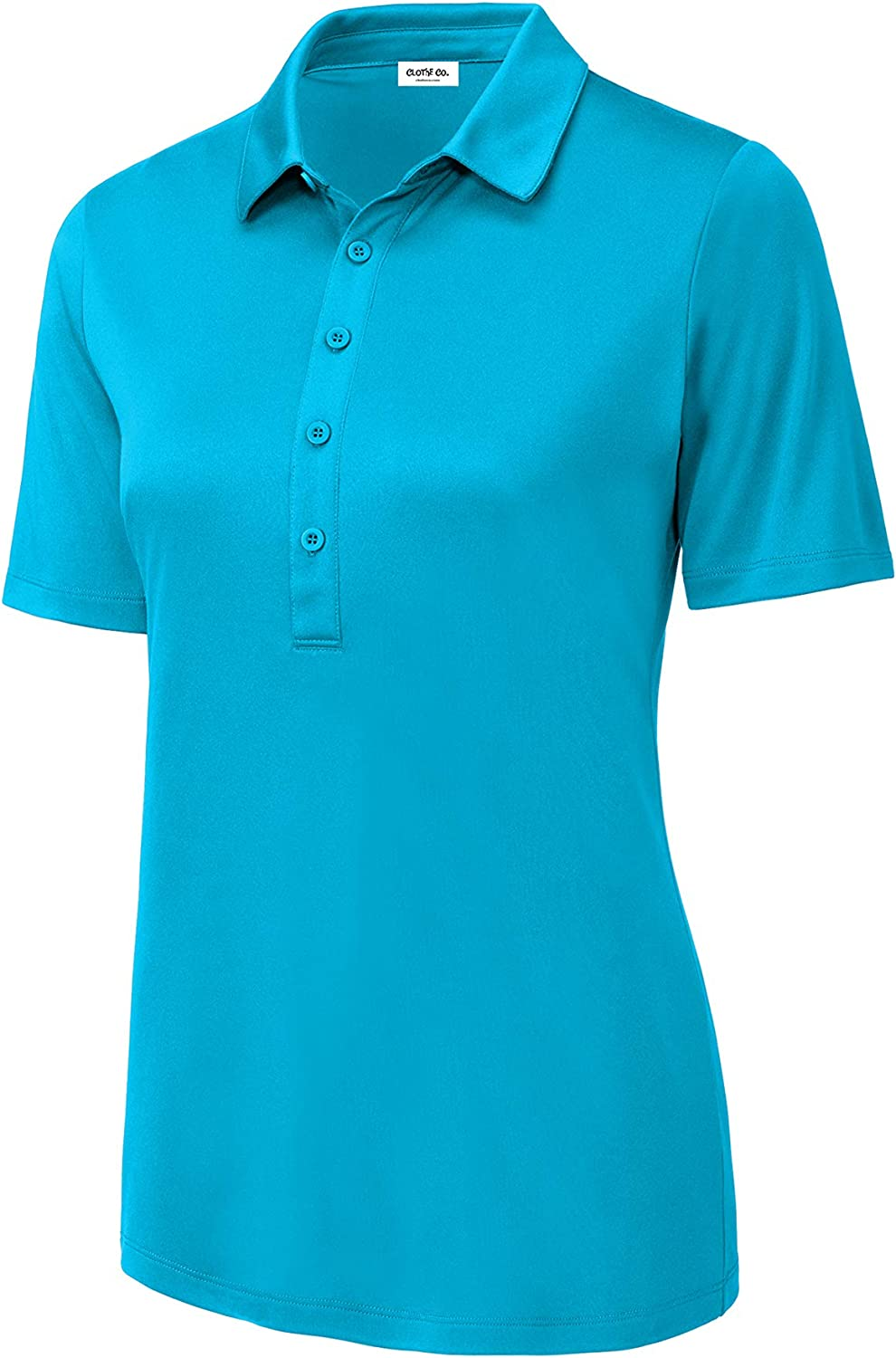 Women's Ladies UV 50 Golf Button Polo Shirt at  Women's Clothing store