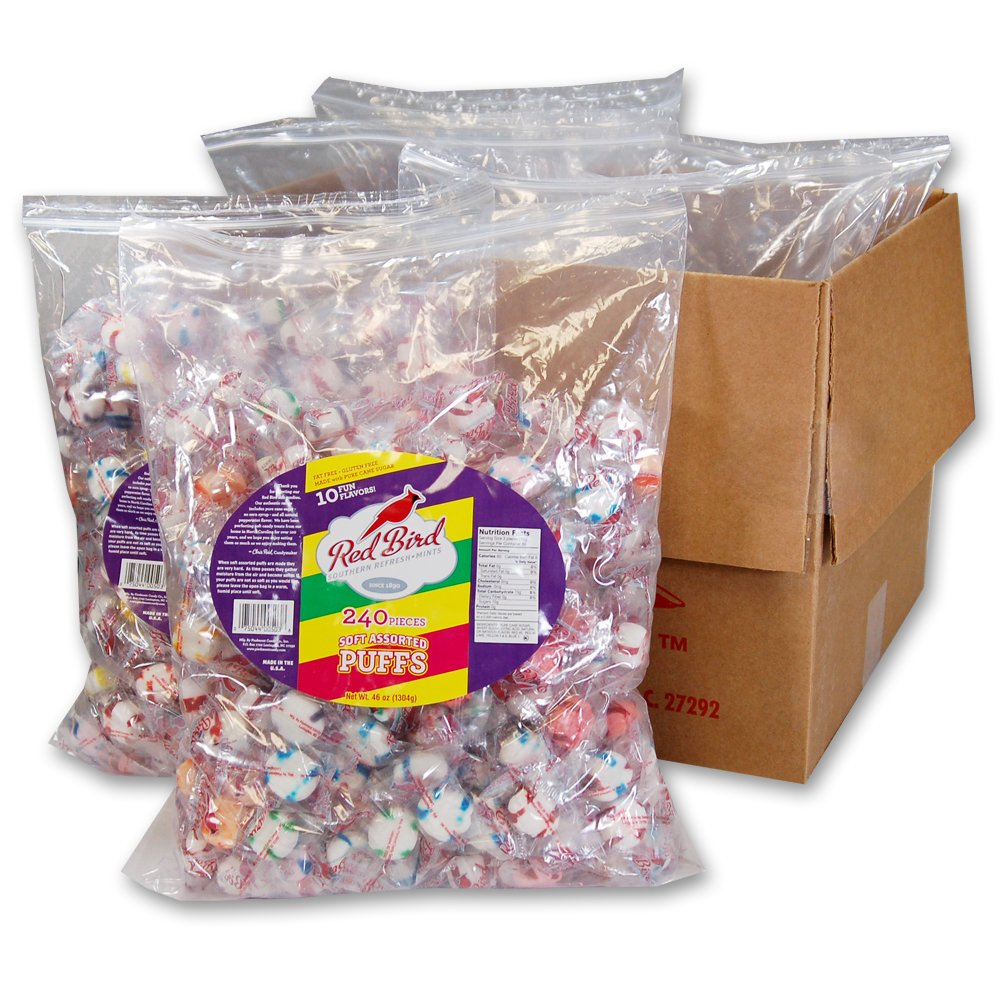 Red Bird Assorted Puffs 6-240 count bags