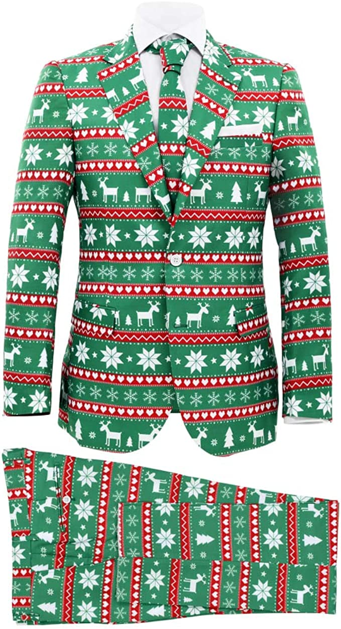 vidaXL Herren Weihnachten Anzug 2 TLG. mit Krawatte