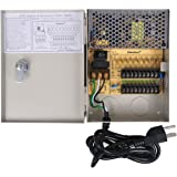 VideoSecu Key Lock 9 Output 12 V DC CCTV Distributed Power Supply Box for Security Camera WK9