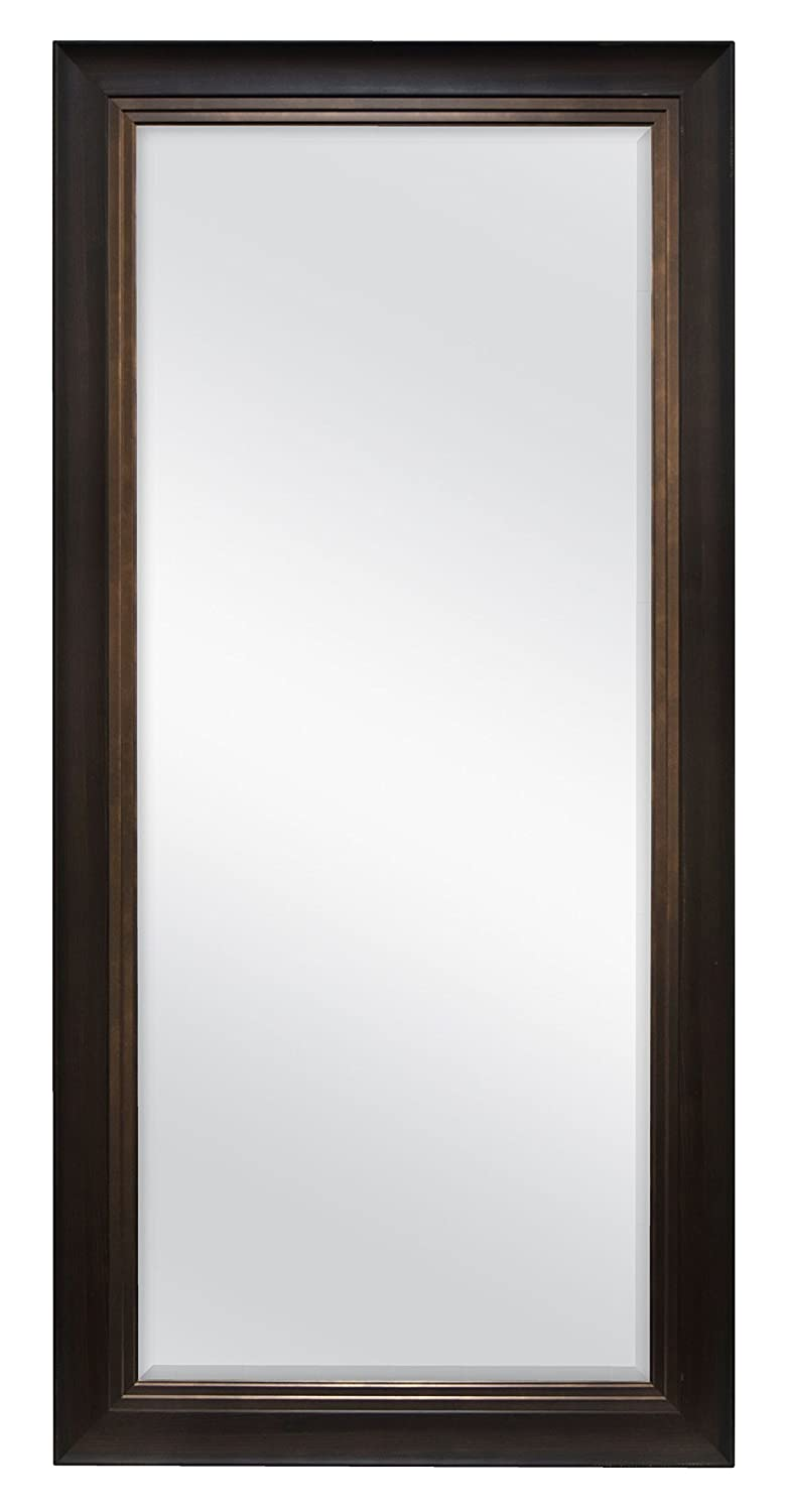 MCS Beveled Leaner Mirror (66902) Rustic Woodgrain and Pewter MCS Industries