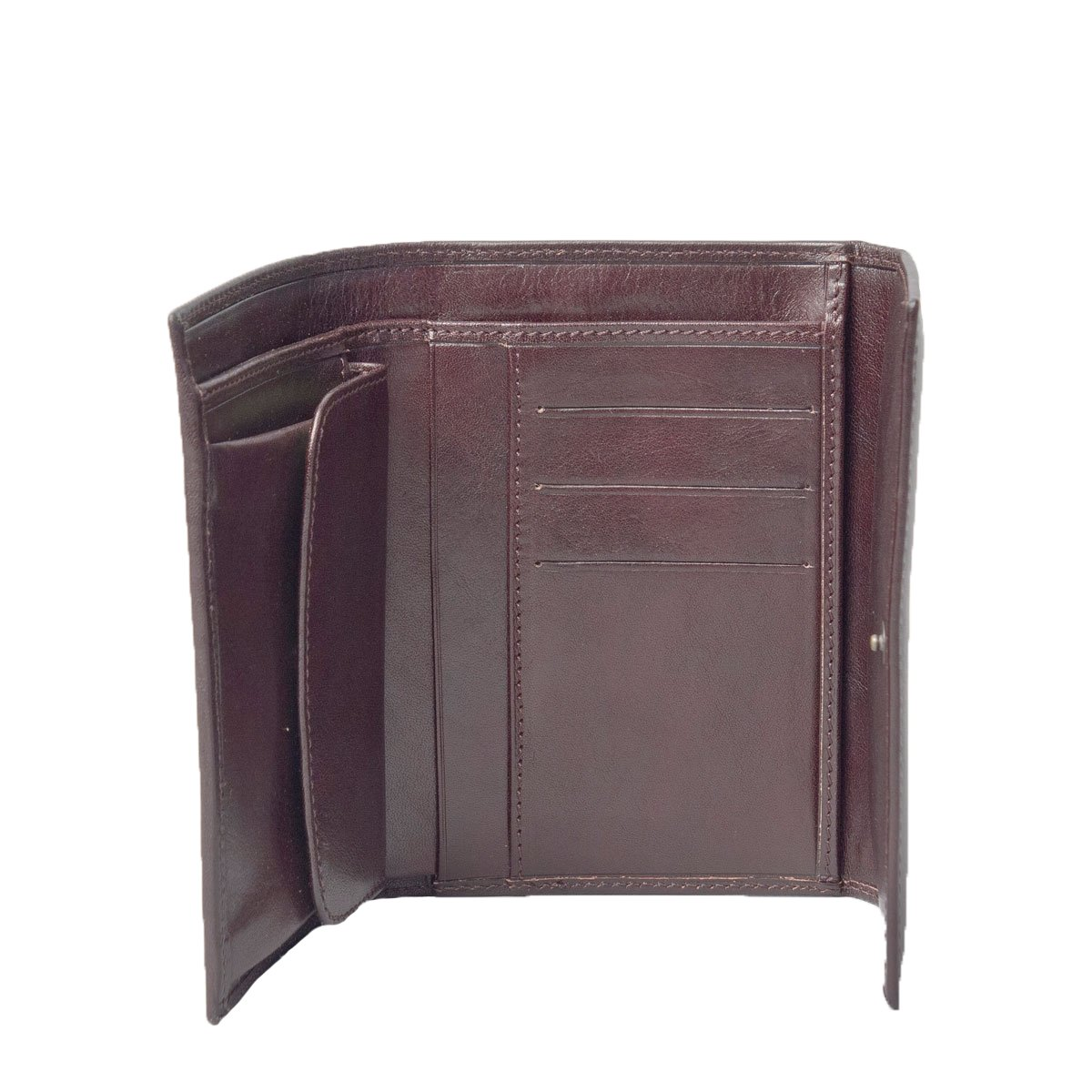 Maxwell Scott Luxury Ladies Wallet with Pocket - One Size (The Pianella) (Dark Chocolate Brown)