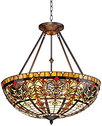Corazon bronze 25 wide robert louis tiffany pendant light ceiling corazon bronze 25quot wide robert louis tiffany pendant light aloadofball Images