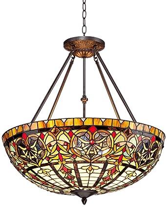 Corazon Bronze 25u0026quot; Wide Robert Louis Tiffany Pendant Light  sc 1 st  Amazon.com & Corazon Bronze 25