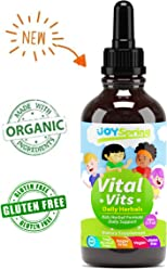 Liquid Organic Vitamins for Kids - Immune System Booster for Kids, Best Immune System Support for Children with Iron