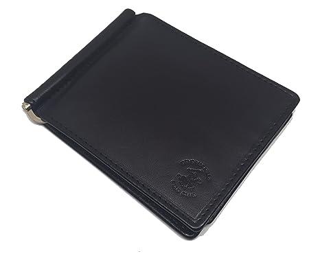 para Billetes Polo Cartera Piel Hombre Negro bh960 Muelle: Amazon ...