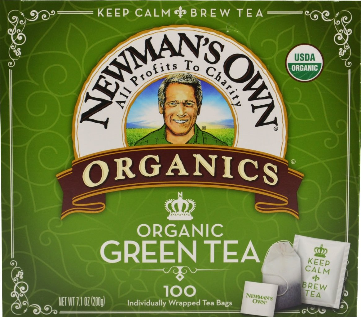 Newman's OwnOrganics Royal Tea, Organic Green Tea, 100-Count Individually Wrapped Tea Bags (Pack of 5)