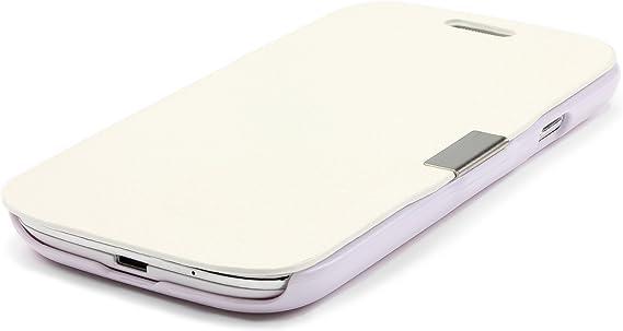 Urcover Galaxy S3 Mini Funda Libro, Carcasa con Tapa Cierre magnético, Wallet Case Bilitera Flip Wallet Cover Samsung Galaxy S3 Mini – Blanco: Amazon.es: Electrónica