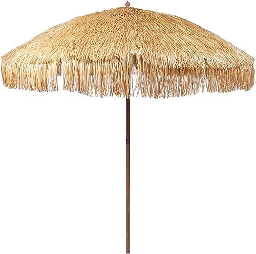 iConcern 6.5 ft. Thatched Patio Tiki Umbrella