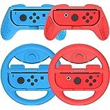 マリオカート8 デラックス Joy-Conハンドル for Switch マリオ Y047(赤+青/4点セット)Momen®