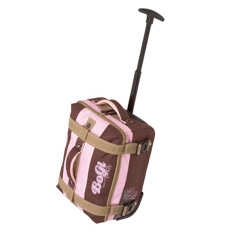 "Trolley-Tasche ""BoGi-Kids"", braun/rosa, ca. 36x25,5x18cm"