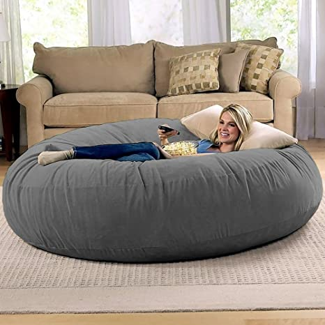 Fabulous Jaxx 6 Foot Cocoon Large Bean Bag Chair For Adults Charcoal Caraccident5 Cool Chair Designs And Ideas Caraccident5Info