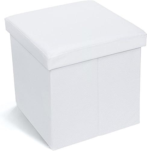 Deal of the week: Tatkraft Blanc Ottoman Folding Storage Pouffe Toy Box Foot Stool