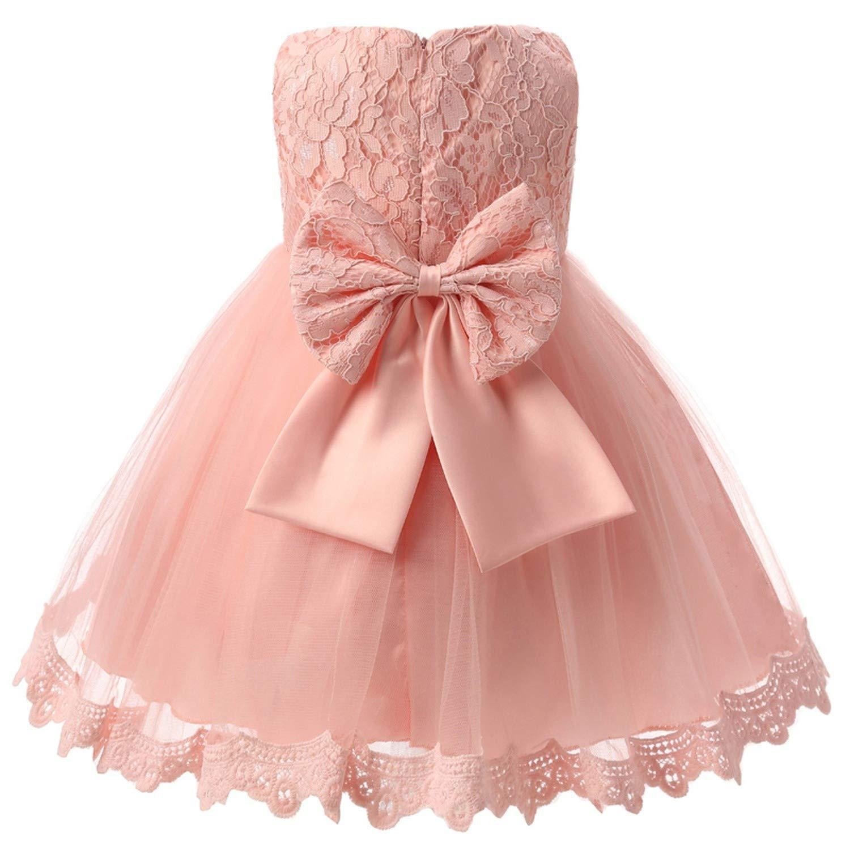 b42401f19d Amazon.com: Winter Baby Girl Christening Gown Infant Princess Dress 1st  Birthday Outfits Children Kids Party Wear Dress Girl Formal  Vestido,C174F,18M: ...