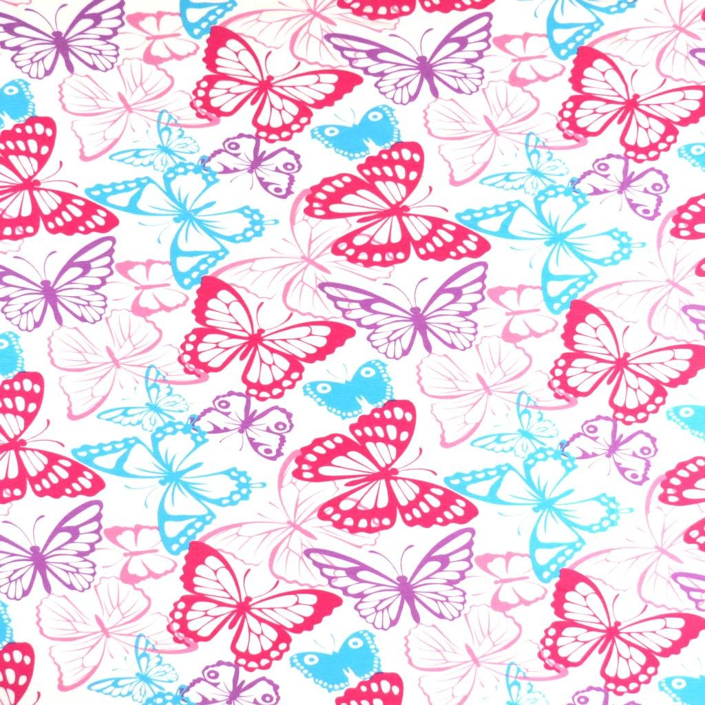 SheetWorld Fitted Pack N Play Sheet Fits Graco 27 x 39 - Butterflies Jersey Knit - Made In USA