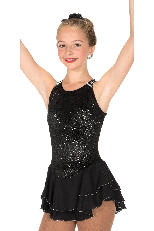 Amazon.com: Ice Skating Dress Girls Black Figure Skating Dresses ...