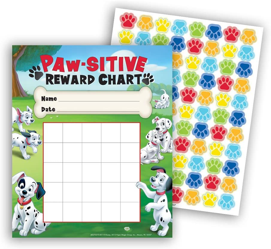 Eureka 101 Dalmatians Paw-Sitive Mini Reward Charts with Stickers, Package of 36