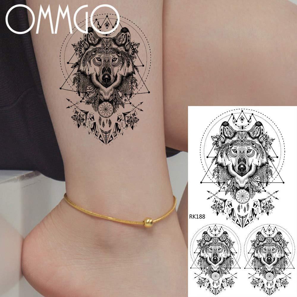 Yyoutop Pequeño león Falso e Tatuajes Dreamcatcher Pegatina para ...