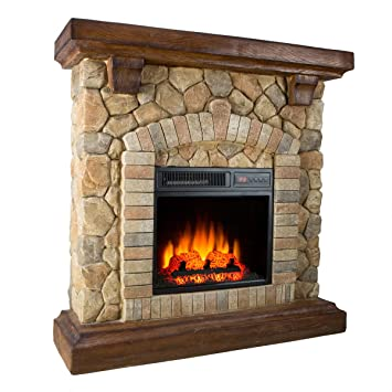 Buy Twin-Star Electric Fireplace 18WM40070 Free Standing 1400 Watt Stone Electric Space Heater: Space Heaters - Amazon.com ? FREE DELIVERY possible on eligible purchases