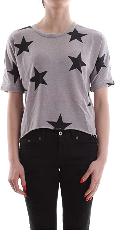 TALLA M. Only Onlsienne S/S Star Swt Sudadera para Mujer