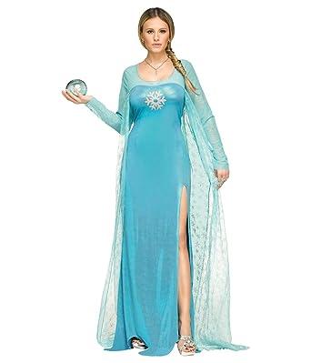 sc 1 st  Amazon.com & Amazon.com: Fun World Ice Queen Costume Adult Elsa Costume: Clothing