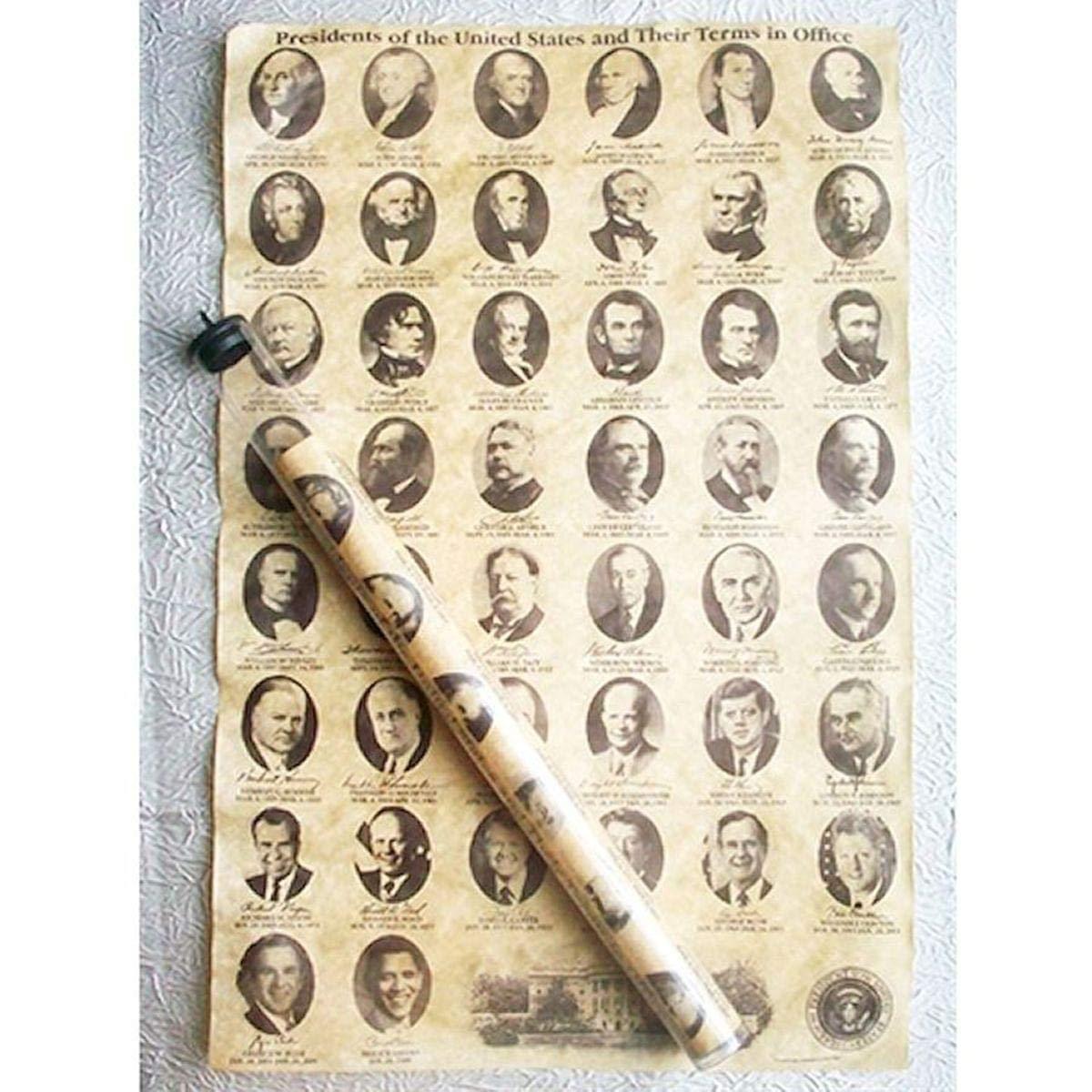 Historic U.S. Document Reproduction: U.S. Presidents Americana Souvenirs