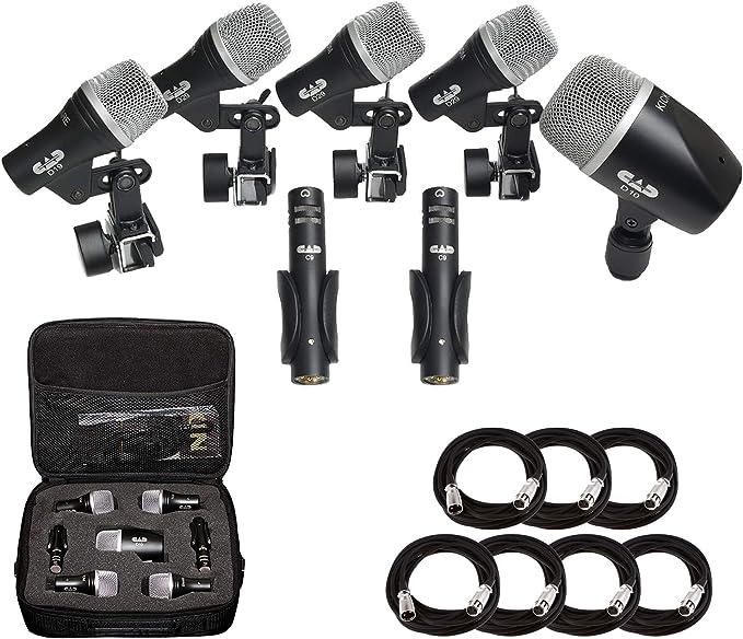 CAD Audio stage7 Premium 7-Piece Pack Tambor Instrumento micrófono ...