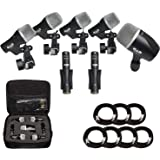 Cad Audio Stage7 Premium 7-Piece Drum Instrument Mic Pack with Vinyl Carrying Case + 7 On Stage Microphones Cables, 20…