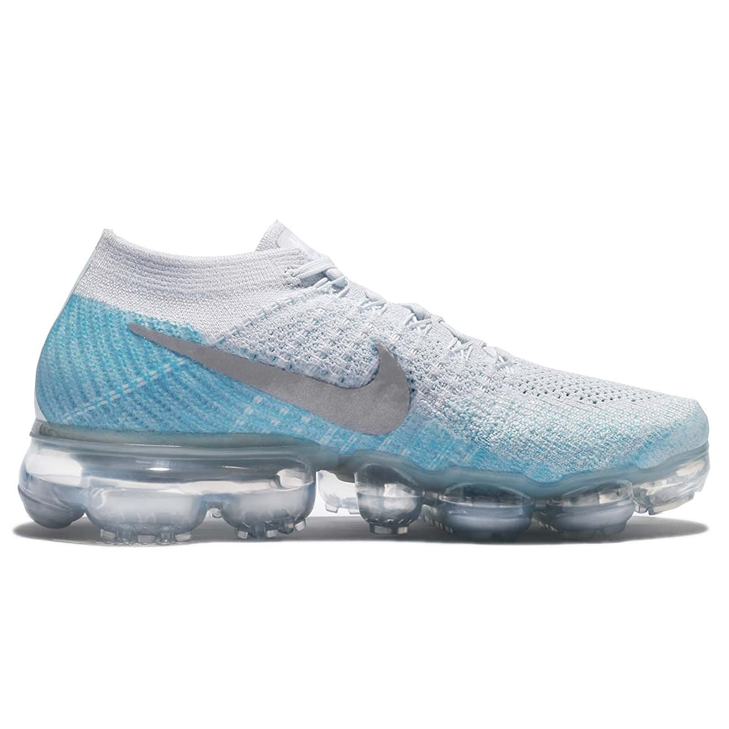 Amazon.com | Nike WMNS Air Vapormax Flyknit Ice Flash 849557-014 Platinum/Blue Womens Running Shoes | Running