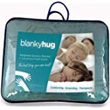 BlankyHug Cooling Weighted Blanket with Luxurious Ultra-Soft Quilted Cover | Packaged in Protective Storage Tote Bag | Anxiety Relief Blanket for Deep, Comfortable and Restorative Sleep