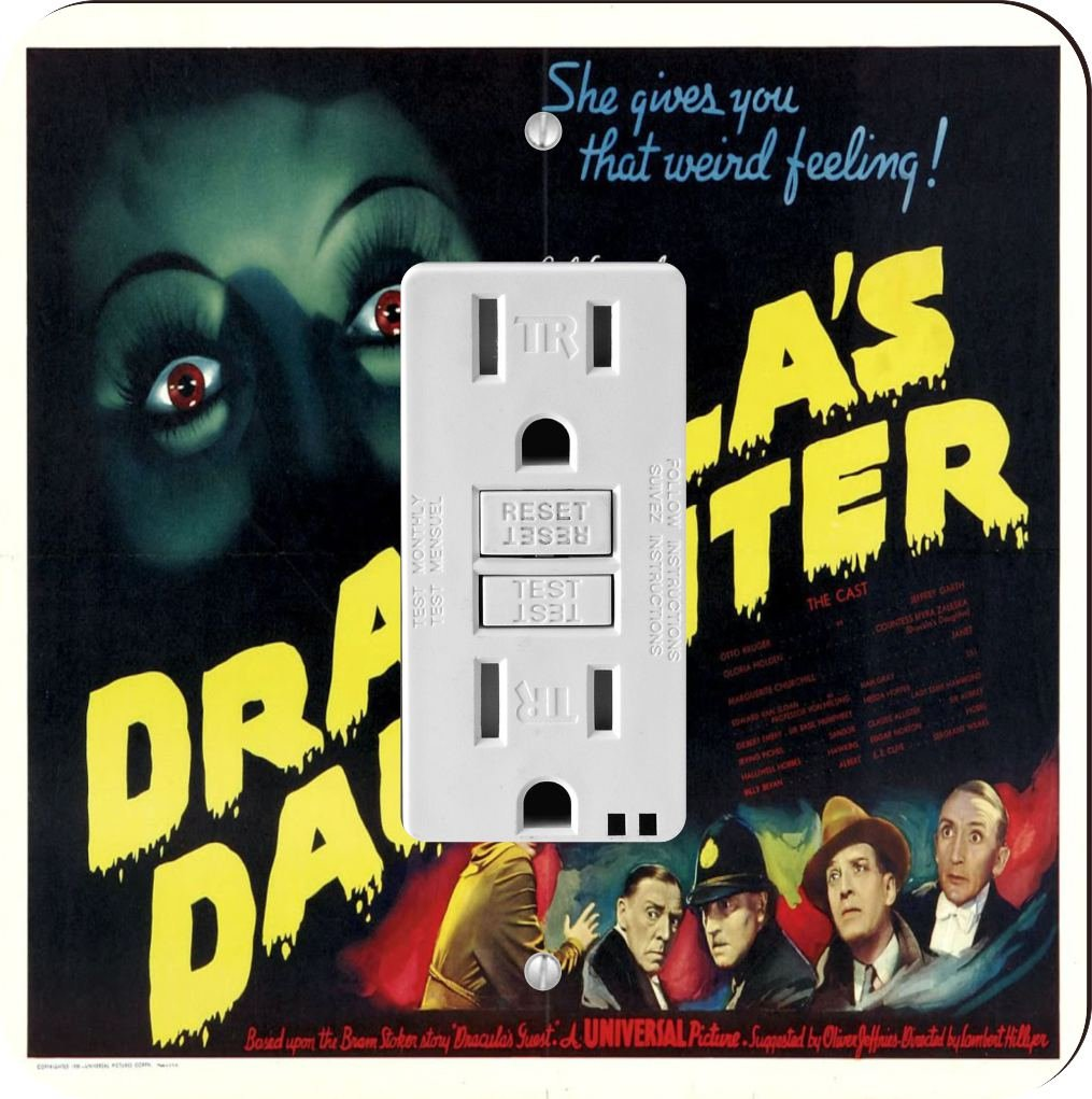 Rikki Knight 3708 Vintage Movie Posters Art Dracula's Daughter 5 Design Light Switch Plate by Rikki Knight