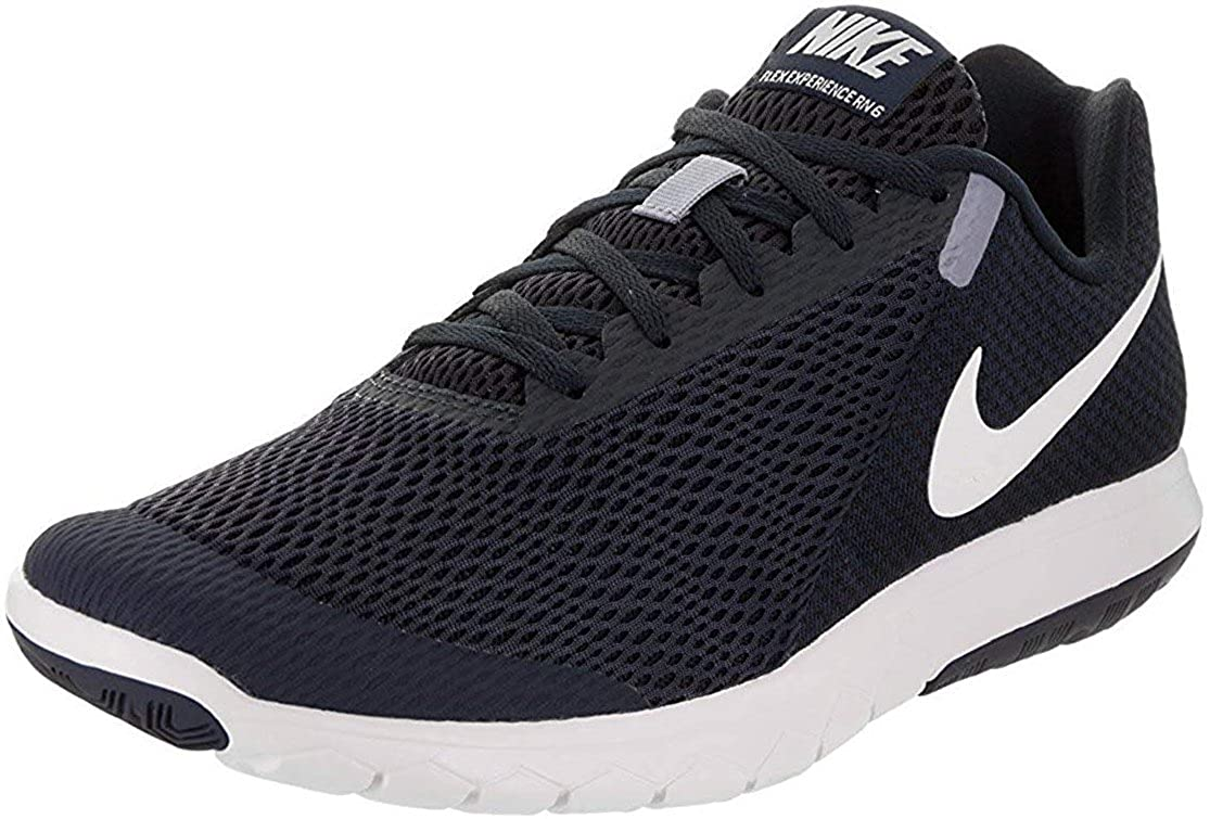 uk availability 112d2 957cf Amazon.com  Nike Flex Experience RN 6 ObsidianWhiteDark Obsidian Mens  Running Shoes, 7 US  Sandals