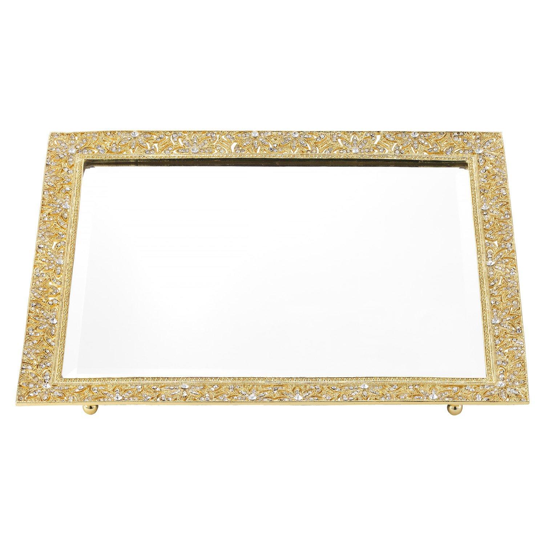 Olivia Riegel Gold Windsor Crystal Perfume Tray