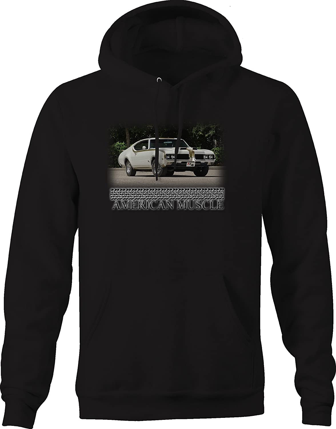 American Muscle Olds 442 Original Hotrod Horsepower Graphic Hoodie for Men