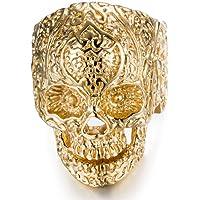 Acero inoxidable anillos de calavera para hombre Mujer clásico gótico anillos