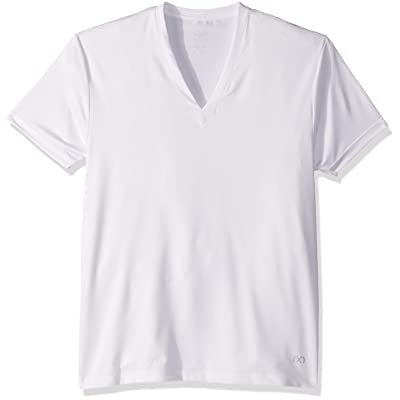 2(X)IST Men's Quick Dry Antimicrobial Deep V-Neck Tee Underwear at Men's Clothing store