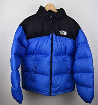 dc1868accb Mens Blue X Large North Face Nuptse Black 700 Down Puffa Jacket Vintage Size  XL  Amazon.co.uk  Clothing
