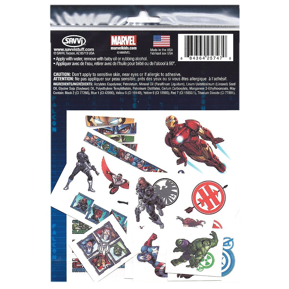 Amazon.com: Marvel The Avengers Assemble Tattoos [2 Package ...