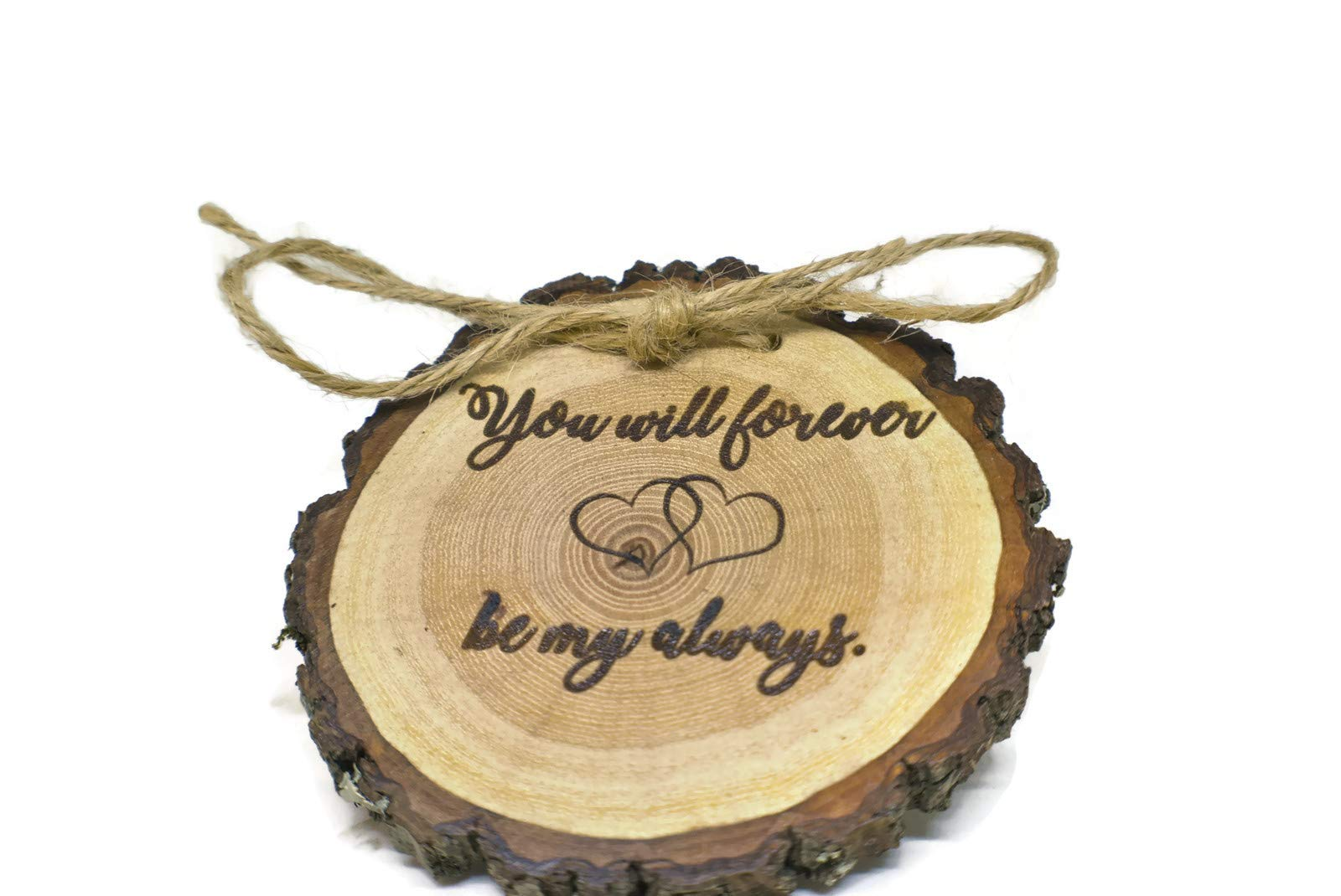 OzarkCraftWood You Will Forever be My Always Rustic Wood Ring Bearer Pillow
