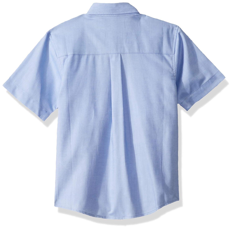 Nautica Boys' School Uniform Short Sleeve Oxford Shirt