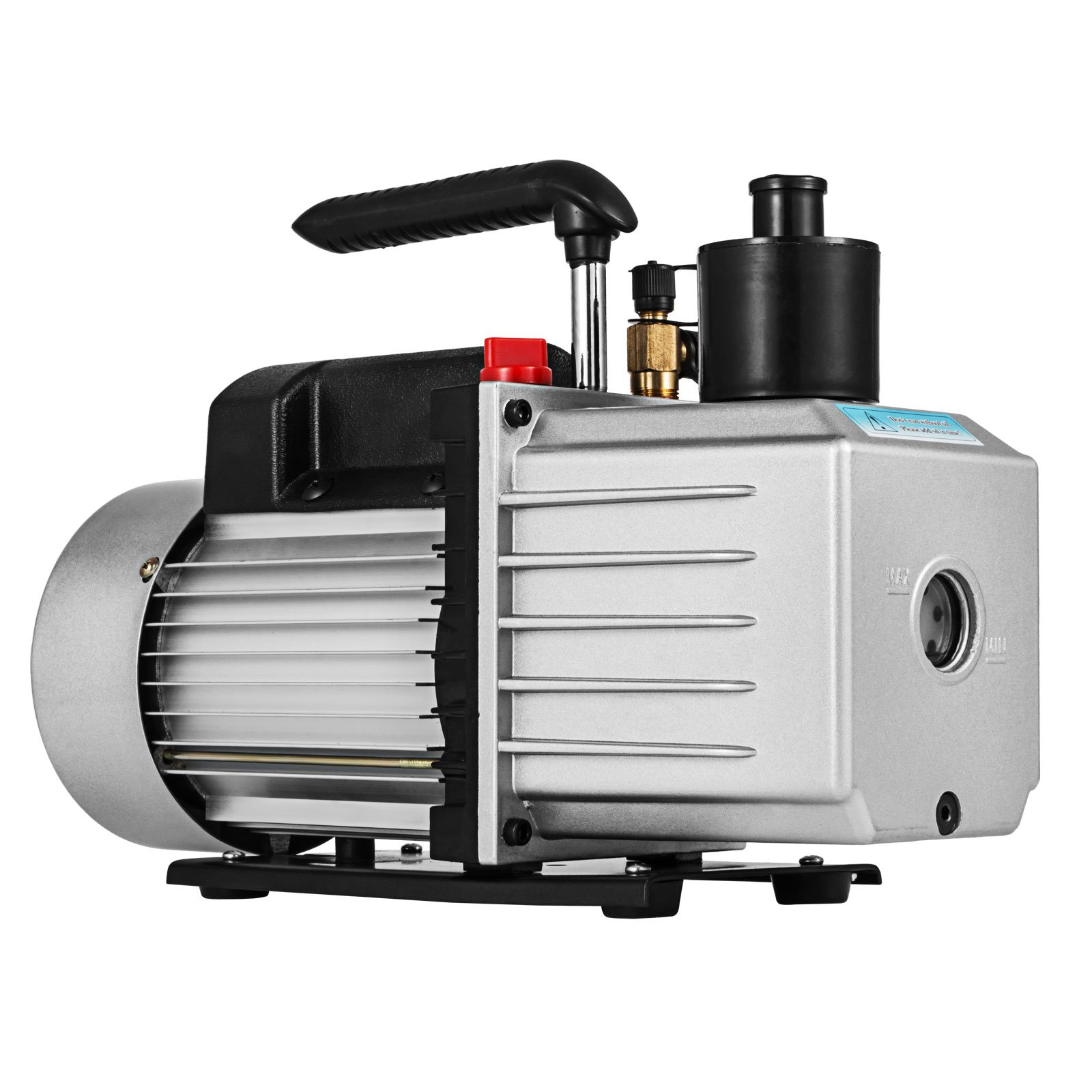 VEVOR Vacuum Pump 8CFM 1HP Two Stage HVAC Rotary Vane Vacuum Pump Wine Degassing Milking Medical Food Processing Air Conditioning Auto AC Refrigerant Vacuum Pump (2-Stage, 8CFM) by VEVOR (Image #5)