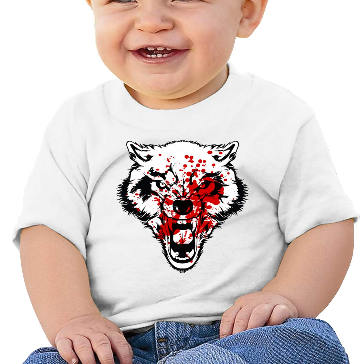 Terrible Wolf Short-Sleeves T Shirts Baby Boys