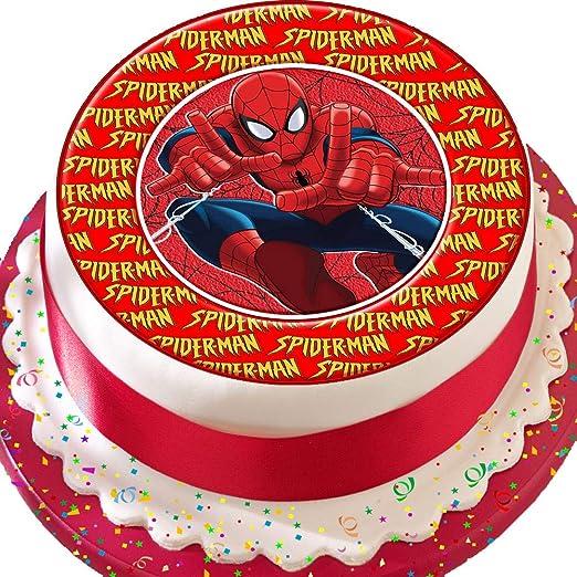Spiderman superhéroe rojo cumpleaños troquelada comestible ...