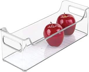 InterDesign Refrigerator or Freezer Storage Bin – Organizer Container for Kitchen, Clear (73430)
