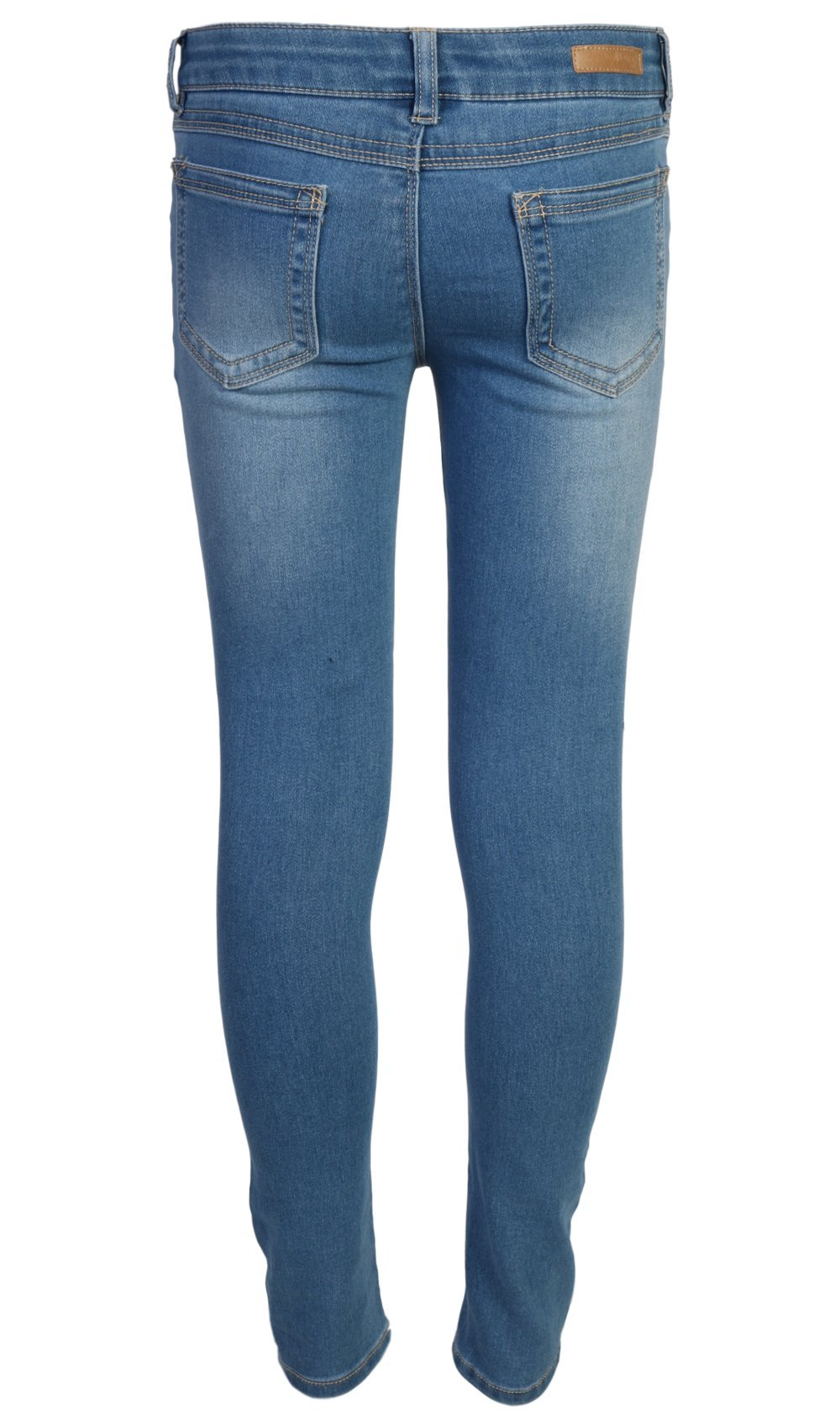 WallFlower Girl's Skinny Soft Stretch Jeans with Rips and Tears, Light Wash/Floral 8 by WallFlower Jeans (Image #5)